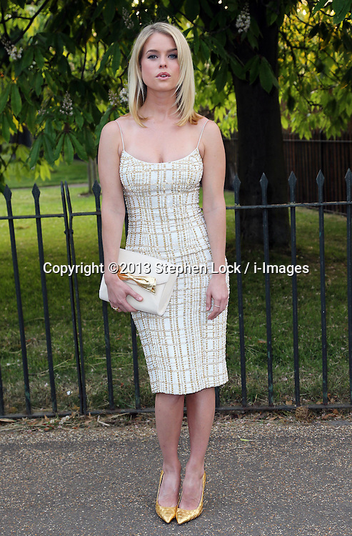 Alice Eve arriving at  the Serpentine Gallery summer party in London, Wednesday, 26th June 2013<br /> Picture by Stephen Lock / i-Images