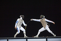 Erwan Le Pechoux (FRA) [left] v Keith COOK (GBR) [right] during the men's foil competition at the London Prepares Olympic Test Event, ExCel Centre,  London, England November 27, 2011.