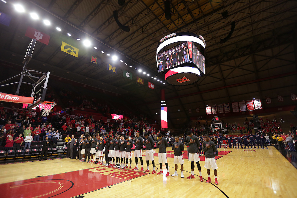 The Rutgers mens basketball game against Howard at the Rutgers Athletic Center. <br />