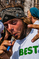 420 Cannabis Culture Music Festival, Civic Center Park, Downtown Denver, Colorado USA. This was the first 4/20 celebration since recreational pot became legal in Colorado January 1, 2014. A crowd of up to 80,000 people attended the event.