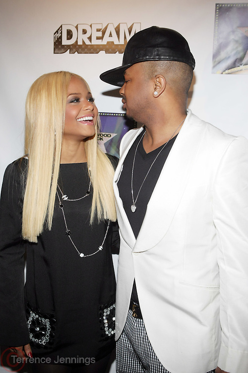l to r: Christina Milian and the Dream at The Dream's Black Tie Album Release Party held at The Hiro Ballroom on March 11, 2008 in New York City.  ..The Dream- Platinum-selling, award-winning, R&B Recording Artist, Writer and Producer, whose sophomore album, Love vs. Money, out NOW!