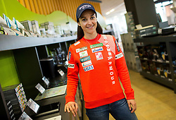 Maja Vtic during press conference of Slovenian Ski Jumping teams  before new season 2018/19, on November 13, 2018 in Gorenje shop, Crnuce, Ljubljana, Slovenia. Photo by Vid Ponikvar / Sportida