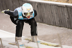 February 7, 2019 - Ljubno, Savinjska, Slovenia - Elena Runggaldier of Italy competes on qualification day of the FIS Ski Jumping World Cup Ladies Ljubno on February 7, 2019 in Ljubno, Slovenia. (Credit Image: © Rok Rakun/Pacific Press via ZUMA Wire)