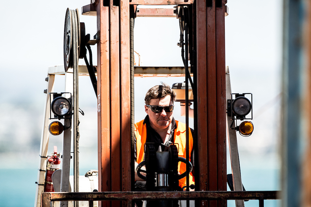 100-ft race yacht at Southern Ocean Marine. Tauranga, New Zealand. 8 November 2016.  Photo:Gareth Cooke/Subzero Images