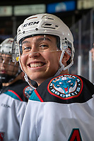 KELOWNA, BC - DECEMBER 30: Devin Steffler #4 of the Kelowna Rockets stands on the bench against the Prince George Cougars  at Prospera Place on December 30, 2019 in Kelowna, Canada. (Photo by Marissa Baecker/Shoot the Breeze)