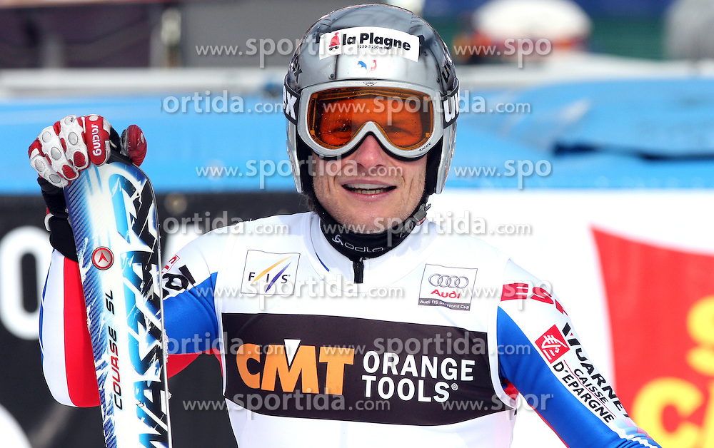Winner Julien Lizeroux at first run of 9th men's slalom race of Audi FIS Ski World Cup, Pokal Vitranc,  in Podkoren, Kranjska Gora, Slovenia, on March 1, 2009. (Photo by Vid Ponikvar / Sportida)