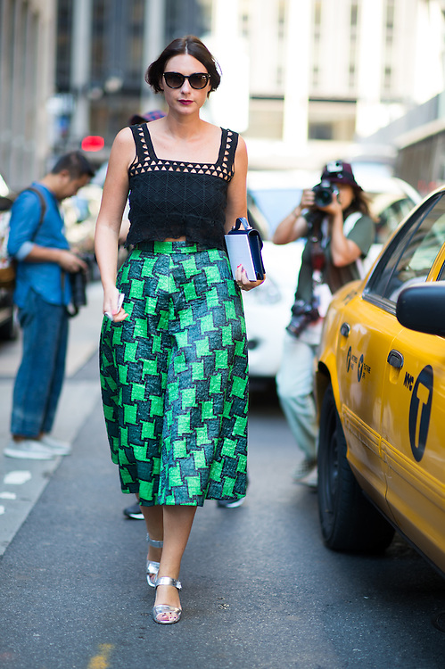 Green Houndstooth Pants, Outside Victoria Beckham