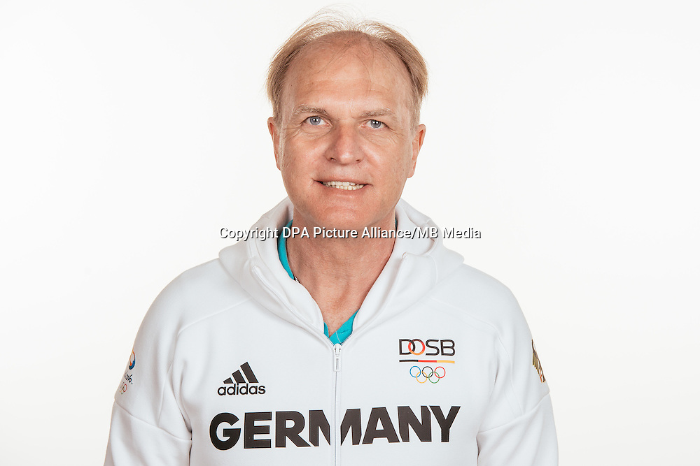 Clemens Prokop poses at a photocall during the preparations for the Olympic Games in Rio at the Emmich Cambrai Barracks in Hanover, Germany, taken on 19/07/16 | usage worldwide