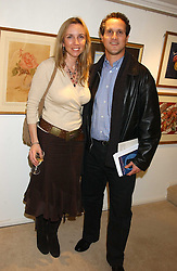 BRIAN & MARY HANOVER at an exhibition of art by Bo Sigrist Guirey (Princess Azamat Guirey) held at Square One Gallery, 592 Kings Road, London SW6 on 13th December 2005.<br /><br />NON EXCLUSIVE - WORLD RIGHTS
