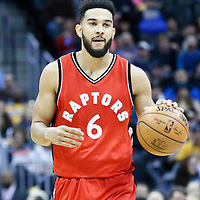 18 November 2016: Toronto Raptors guard Cory Joseph (6) brings the ball up court during the Toronto Raptors 113-111 OT victory over the Denver Nuggets, at the Pepsi Center, Denver, Colorado, USA.