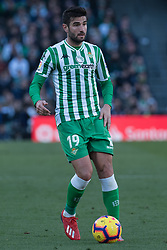 February 3, 2019 - Sevilla, Andalucia, Spain - Antonio Barragan of Real Betis  drive the ball  during the LaLiga match between Real Betis vs Atletico de Madrid at the Estadio Benito Villamarin in Sevilla, Spain. (Credit Image: © Javier MontañO/Pacific Press via ZUMA Wire)