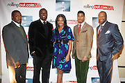 l to r: Chuck Creekmur, Kwame Jackson, Malikha Mallette, Fornzworth Bently and Munson Steed at The Men of Style Awards presented by Gillette Fusion and Rolling Out Urbanstyle Weekly held at the 40/40 Club on Novemeber 2, 2009 in New York City