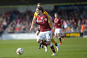 Northampton Town Striker Ricky Holmes during the Sky Bet League 2 match between Northampton Town and Newport County at Sixfields Stadium, Northampton, England on 25 March 2016. Photo by Dennis Goodwin.