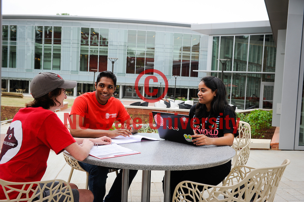 Students use the new Talley student union. Photo by Marc Hall