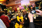 Madame Leah and Archbishop Tutu greet guests at the honoree dinner.