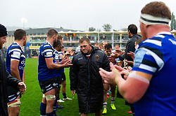 Alex Waller of Northampton Saints leads his team off the field - Mandatory byline: Patrick Khachfe/JMP - 07966 386802 - 22/09/2018 - RUGBY UNION - The Recreation Ground - Bath, England - Bath Rugby v Northampton Saints - Gallagher Premiership Rugby