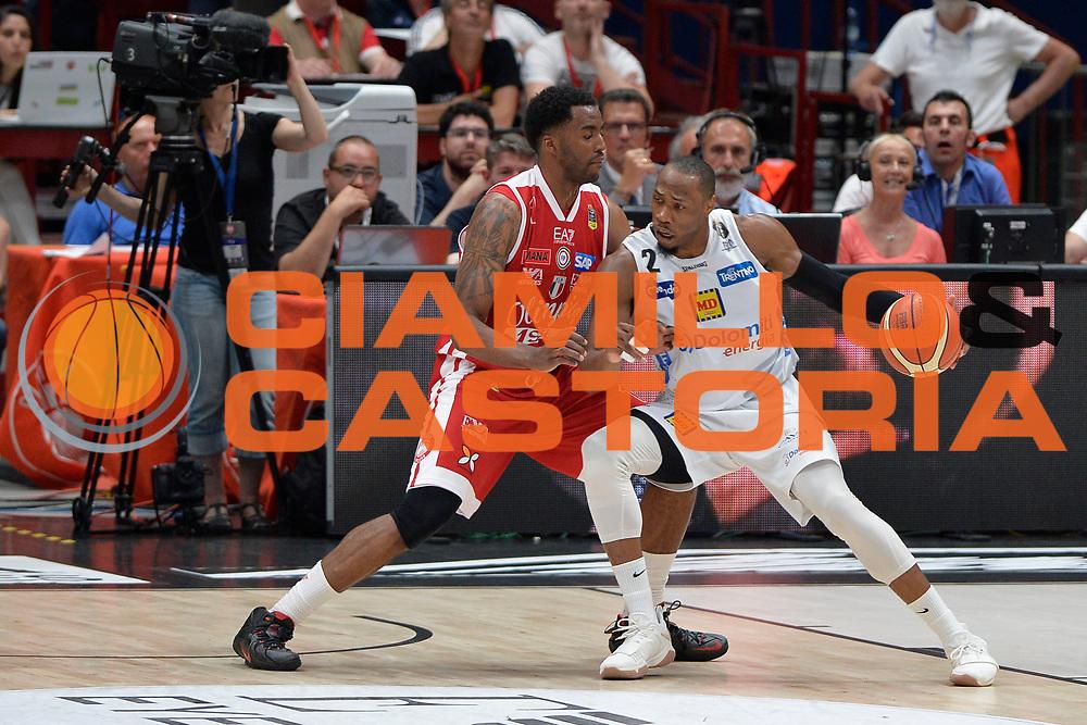 Sutton Dominique<br /> Olimpia EA7 Emporio Armani Milano vs Dolomiti Energia Trentino<br /> Lega Basket Serie A 2016/2017<br /> PlayOff semifinale gara 2<br /> Milano 27/05/2017<br /> Foto Ciamillo-Castoria / I.Mancini