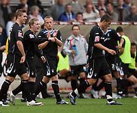 Photo: Rich Eaton.<br /> <br /> Cheltenham Town v Nottingham Forest. Coca Cola League 1. 13/10/2007. Forest's Kris Commons 2nd left celebrates his hat trick.