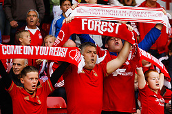 General view of Nottingham Forest fans before the match - Mandatory byline: Jack Phillips / JMP - 07966386802 - 18/8/2015 - FOOTBALL - The City Ground - Nottingham, Nottinghamshire - Nottingham Forest v Charlton Athletic - Sky Bet Championship