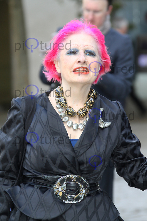LONDON - OCTOBER 12: Zandra Rhodes attended the Vidal Sassoon memorial service at St Paul's Cathedral, London, UK. October 12, 2012. (Photo by Richard Goldschmidt)