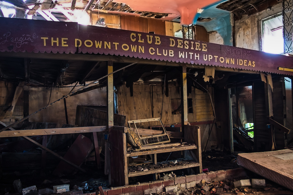 June 7, 2015, Club Desire still standing nearly ten years after Hurricane Katrina-,though not for long. The city plans to tear down the former music hall where many of  New Orleans' music legends played including Fats Domino. <br /> Many had asked the city to restore the club, badly damaged by Hurricane Katrina, as historic landmark, but that will not happen now.