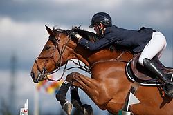 Thomas Gilles, BEL, Jacarta van t Ravennest<br /> Groenten Jumping - Sint Kathelijne Waver 2017<br /> © Hippo Foto - Dirk Caremans<br /> 17/04/2017