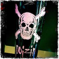 2013 May 13:  Poizin skull wine bottle.