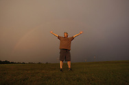 Rainbow near UK Softball and Soccer complex, Saturday, Aug. 14, 2010 at University of Kentucky Campus in Lexington.