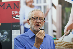 © Licensed to London News Pictures. 03/03/2019. London, UK. Labour leader Jeremy Corbyn speaks during the fourth Visit My Mosque Day at Finsbury Park Mosque in North London. Over 250 mosques open their doors to non-Muslim guests and visitors on the fourth Visit My Mosque Day. This year the national event also encourages mosques to support Keep Britain Tidy's Great British Spring Clean campaign with many already taking part in cleaning their communities. Photo credit: Dinendra Haria/LNP