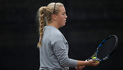 Sam Houston vs. Texas A&M in a NCAA women's tennis match Jan. 26, 2018, in College Station, Texas.