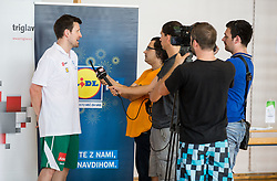 Saso Lukic of Slovenian Deaf Basketball team at media day, on June 13, 2016 in GIB Centre, Ljubljana, Slovenia. Photo by Vid Ponikvar / Sportida