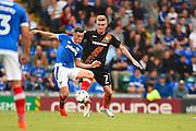 Barnett Ryan Watson and Portsmouths Conor Chaplin fight for the ball in the second half during the EFL Sky Bet League 2 match between Portsmouth and Barnet at Fratton Park, Portsmouth, England on 24 September 2016. Photo by Ian  Muir. during the EFL Sky Bet League 2 match between Portsmouth and Barnet at Fratton Park, Portsmouth, England on 24 September 2016. Photo by Ian  Muir.