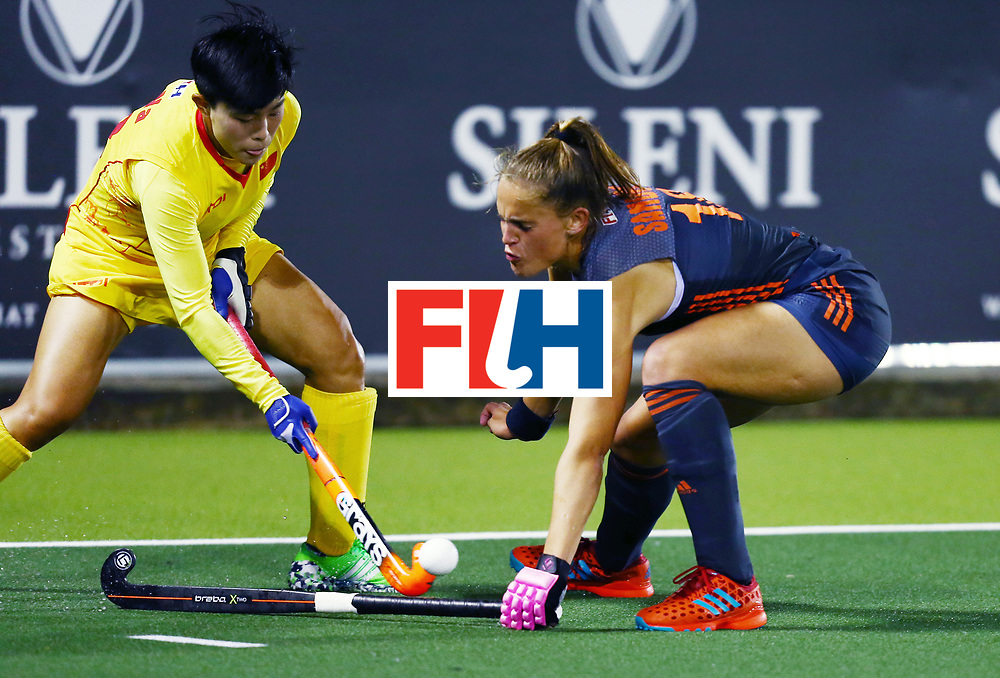 New Zealand, Auckland - 23/11/17  <br /> Sentinel Homes Women&rsquo;s Hockey World League Final<br /> Harbour Hockey Stadium<br /> Copyrigth: Worldsportpics, Rodrigo Jaramillo<br /> Match ID: 10306 - NED vs CHN<br /> Photo: