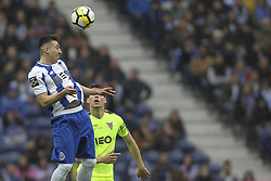 April 8, 2018 - Porto, Aveiro, Portugal - Porto's Mexican midfielder Hector Herrera jumps during the Premier League 2017/18 match between FC Porto v CD Aves, at Dragao Stadium in Porto on April 8, 2018. (Credit Image: © Dpi/NurPhoto via ZUMA Press)