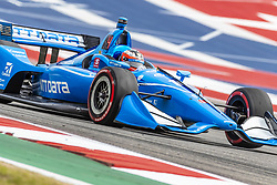 March 22, 2019 - Austin, Texas, U.S. - FELIX ROSENQVIST (R) (10) of Sweden goes through the turns during practice for the INDYCAR Classic at Circuit Of The Americas in Austin, Texas. (Credit Image: © Walter G Arce Sr Asp Inc/ASP)