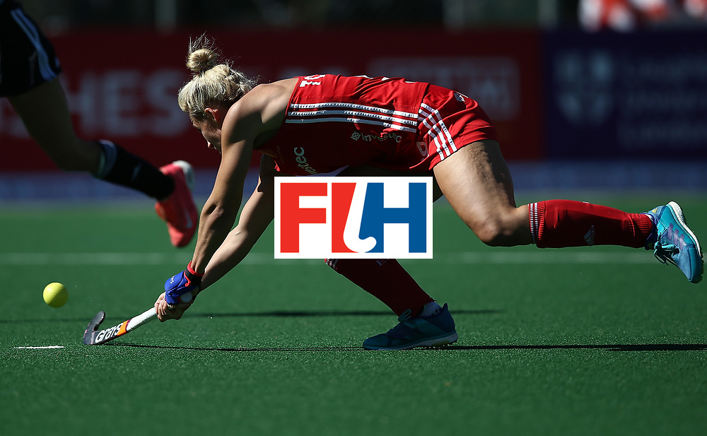 JOHANNESBURG, SOUTH AFRICA - JULY 23:  Susannah Townsend of England scores the second goal during day 9 of the FIH Hockey World League Women's Semi Finals 3rd/ 4t place match between England and Argentina at Wits University on July 23, 2017 in Johannesburg, South Africa.  (Photo by Jan Kruger/Getty Images for FIH)