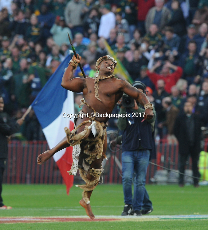 Zulu Dancer during the 2017 International Incoming Series rugby match between SA and France on 24 June 2017 at Ellis Park Stadium   © Sydney Mahlangu /BackpagePix