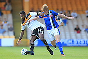 Anthony Grant, Andy Cannon during the EFL Sky Bet League 1 match between Port Vale and Rochdale at Vale Park, Burslem, England on 16 August 2016. Photo by Daniel Youngs.