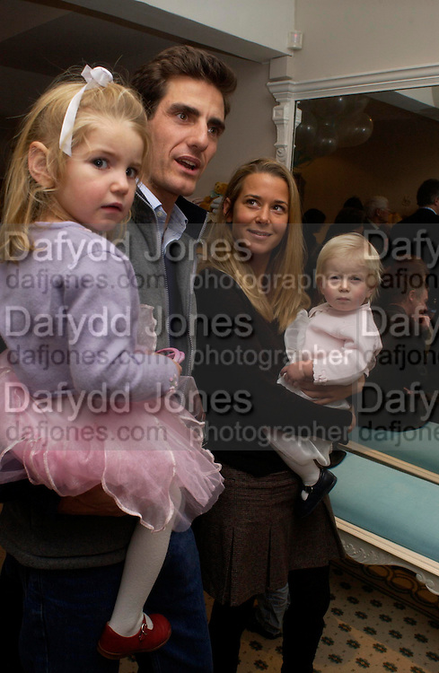 Lord and Lady Compton with their daughters Lady Anastasia and Lady Theodora,  Chippi Hacki launch party.New children's clothes shop by Lady Emily Compton. 8 Motcomb St. London SW1. ONE TIME USE ONLY - DO NOT ARCHIVE  © Copyright Photograph by Dafydd Jones 66 Stockwell Park Rd. London SW9 0DA Tel 020 7733 0108 www.dafjones.com