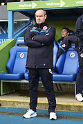 Reading manager Steve Clarke during the Sky Bet Championship match between Reading and Watford at the Madejski Stadium, Reading, England on 20 December 2014. Photo by David Charbitt.