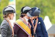 Podium Para Dressuur 1. Sanne Voets - Demantur RS2 N.O.P., 2. Rixt van der Horst - Findsley N.O.P., 3. Maud de Reu - Webron<br /> NK Dressuur 2019<br /> © DigiShots