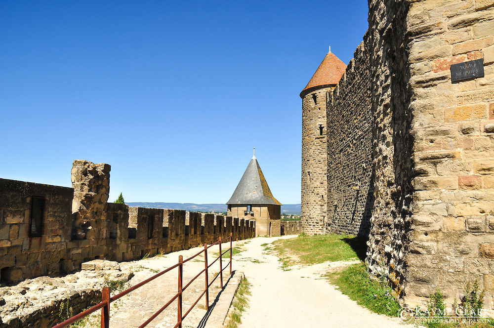 The fortified town of Carcassonne is located in southern France in the region of Languedoc-Roussillon, is one of the best preserved fortified towns in all of Europe.