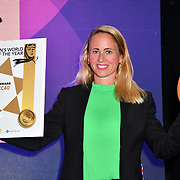 Beatrice Simonsson of Volvo is the winner of the Women world car of the year, award presentation at the London Motor & Tech Show‎ opening day on 16 May 2019, at Excel London, UK.