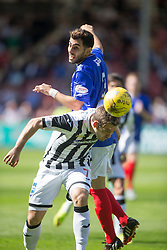 Cowdenbeath's Mohammed Yakud and Dunfermline&rsquo;s Michael Paton. <br /> Dunfermline 7 v 1 Cowdenbeath, SPFL Ladbrokes League Division One game played 15/8/2015 at East End Park.