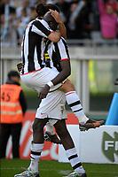 "Momo Sissoko celebrates scoring with Vincenzo Iaquinta<br /> <br /> TORINO 02-03-2008 Stadio ""Olimpico""<br /> <br /> Campionato Italiano Serie A<br /> <br /> JUVENTUS-FIORENTINA 2-3 <br /> <br /> Foto Massimo Insabato/Insidefoto"