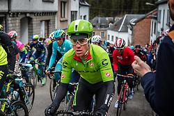 Rider of Cannondale Pro Cycling Team, the peloton at C&ocirc;te de Saint-Roch with 128 km to go, the 102th edition of Li&egrave;ge-Bastogne-Li&egrave;ge race running 253 km from Li&egrave;ge to Li&egrave;ge, Belgium, 24 April 2016.<br /> Photo by Pim Nijland / PelotonPhotos.com<br /> <br /> All photos usage must carry mandatory copyright credit (&copy; Peloton Photos | Pim Nijland)