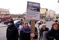 Roma, 2 Marzo 2013.Via Crucis laica per difendere i beni comuni in III municipio, contro le ordinanze della giunta e contro  i 12  nuovi progetti che per il municipio sono come un borbandamento edilizio.La manifestazione è organizzata dal Comitato Progetto Urbano San Lorenzo