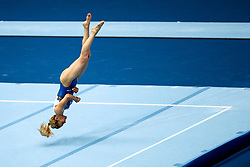 Goksu Uctas Sanli of Turkey at Floor Exercise during Qualifications of Artistic Gymnastics FIG World Challenge Koper 2018, on June 1, 2017 in Arena Bonifika, Koper, Slovenia. Photo by Matic Klansek Velej/ Sportida