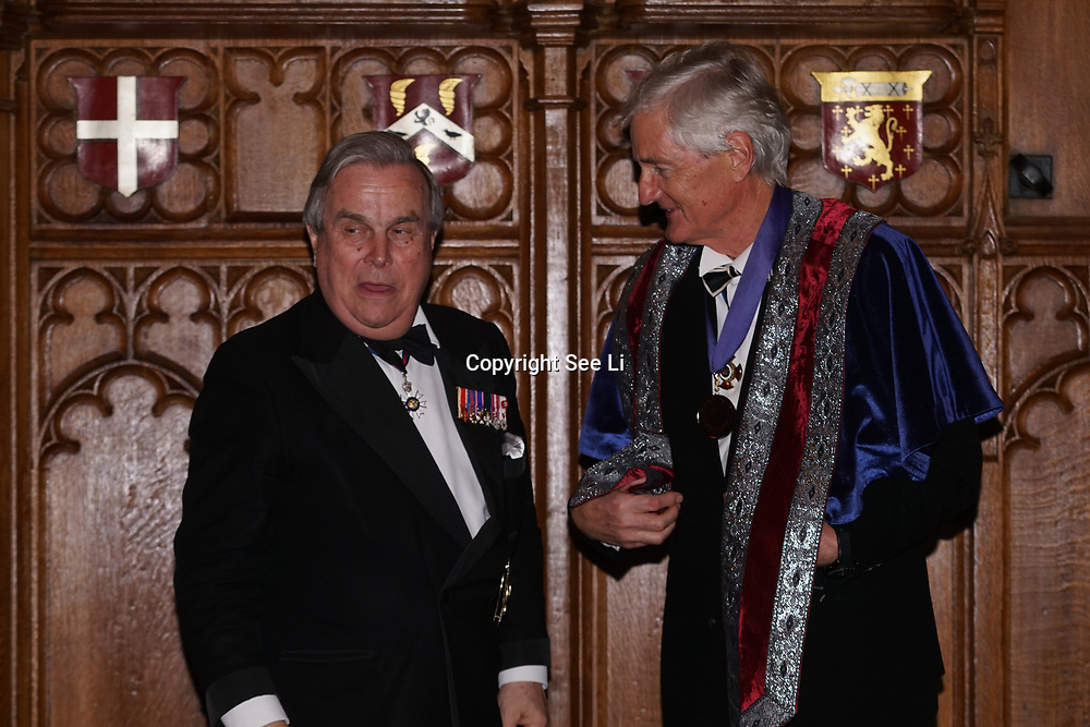 London,England,UK. 31th March 2017: Lord David Brewer presents St James Dyson Award of the Master of Engineering Design,Life Achievement at the Athene Festival 2017 at Guildhall,London,UK. by See Li