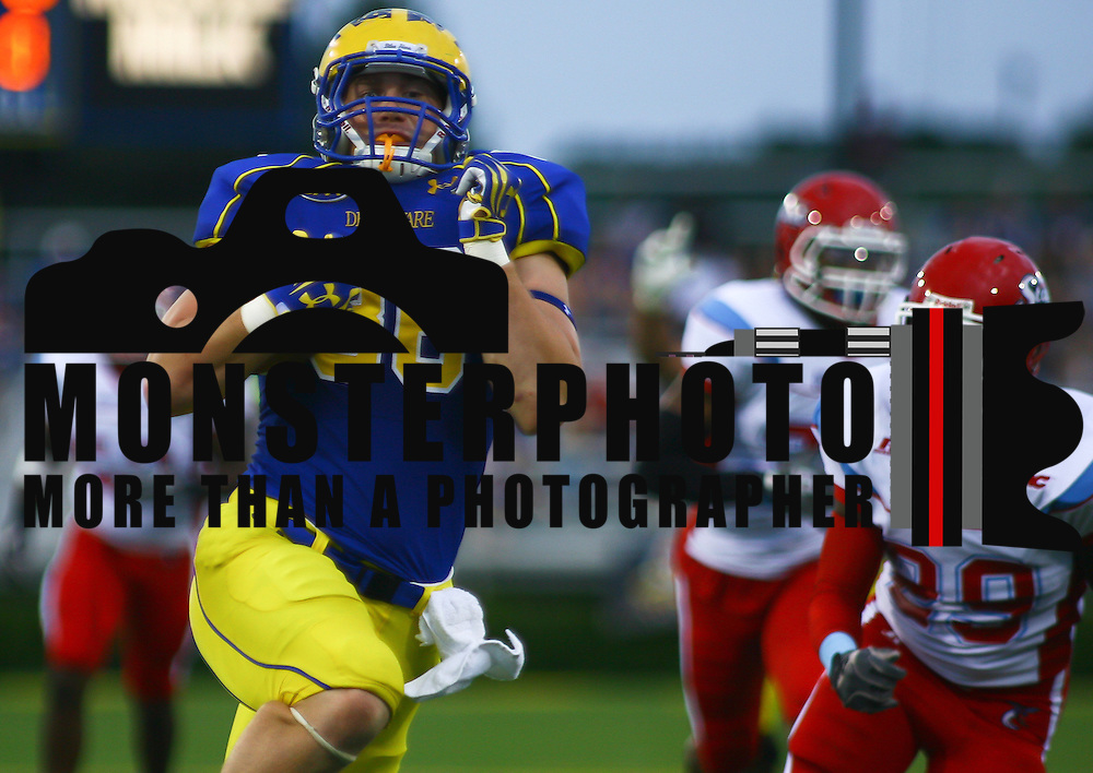 Delaware Tight end Nick Boyle #86 catches a 27 yard pass from Trent Hurley. Boyle would get tackled at DSU 3 for a DELAWARE 1ST DOWN. ..#15 Delaware defeated Delaware State 38 -14 at Delaware Stadium Saturday Sept. 08, 2012 in Newark Delaware.